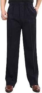 Men's Cotton Relaxed Fit Full Elastic Waist Pants