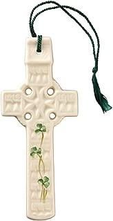 Belleek 2801 Celtic Shamrock Wall Cross