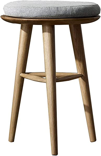 European Style Simple With Cushioned Solid Wood Dressing Stool For Dressing Table Living Room Bedroom Change Shoes 4232cm