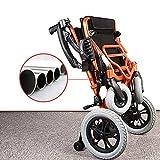 WANGXN Ligera Plegable Silla de Ruedas Silla de Ruedas eléctrica de Gran Alcance Inteligente automático de Doble Motor para Ancianos discapacitados