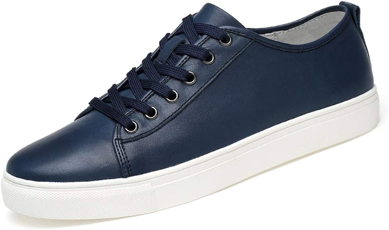 HILOTU Men's Fashion Sneaker Casual Classic Pure color Simple Low-top Lightweight Sports shoes. (color   bluee, Size   9.5 UK)