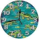 Reloj de Pared Hawaiian Baby Turtle.PNG Reloj Redondo Reloj de Pared silencioso para decoración del hogar