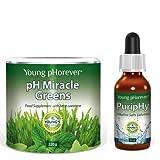 Alcalino Pack Básico pH Milagroso Verde Bebida & Puriphy pH Gotas (Suministro Para 1 Mes)