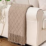 BATTILO HOME Knit Throw Blanket Soft Lightweight...