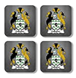 Gallagher Coat of Arms/Family Crest Coaster Set, by Carpe Diem Designs – Made in the U.S.A.