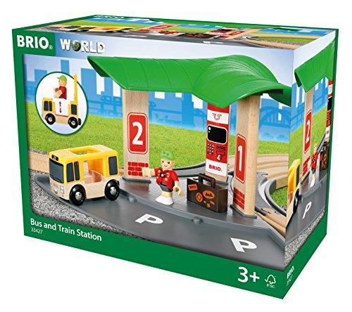 BRIO World 33427 - dworzec autobusowy i pociągowy