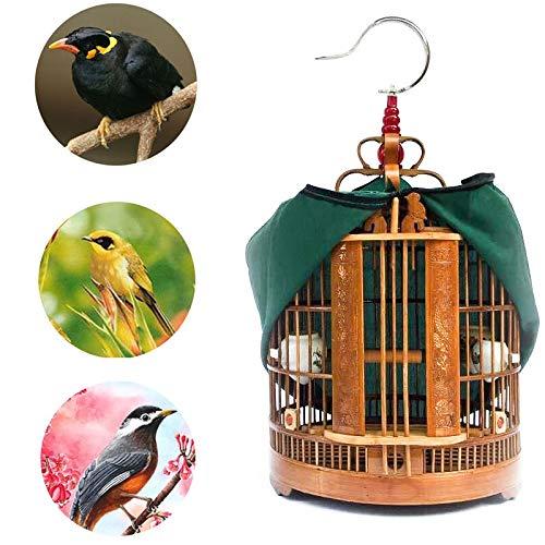 DXIUMZHP Vogelkafig Vogelbauer Deko Kafig Alter Bambusvogelkäfig Von Handarbeit Drossel Myna Universalkäfig Chinesischer Vogelkäfig Der Dekorativen Sammlung (Color : Brown-B, Size : 33 * 33 * 47 cm)