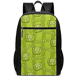51le05z0UtL. SS300  - Square Smiley Cactus Mochilas School Bookbag Hombro Bolsa Casual Daypack Laptop Laptop Square Smiley Cactus