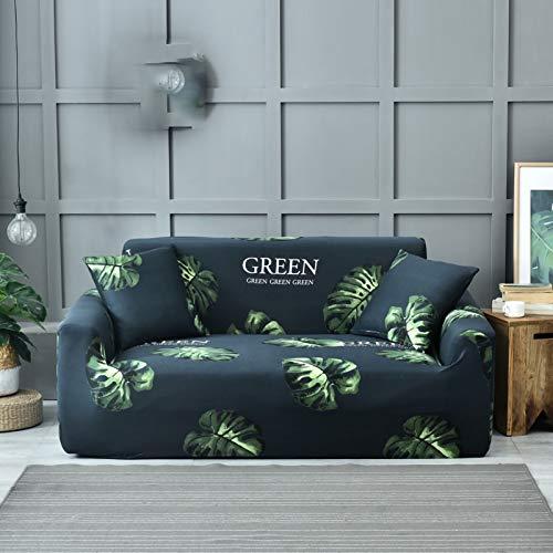 Tables Elastischer Sofabezug 1 2 3 4 Sitzer, Sofahusse Couchhusse Spannbezug für Sofa mit Armlehne Spandex Jacquard Elastische Couchbezug E,4seater