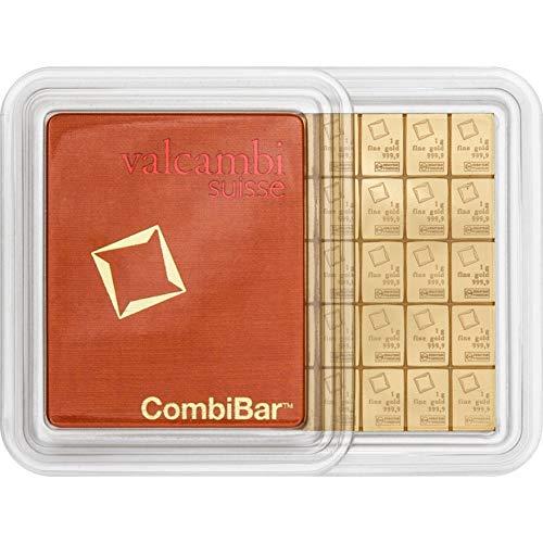1 Gramm Gold 1 gr Goldbarren Barren Feingold 999,9 Valcambi Suisse