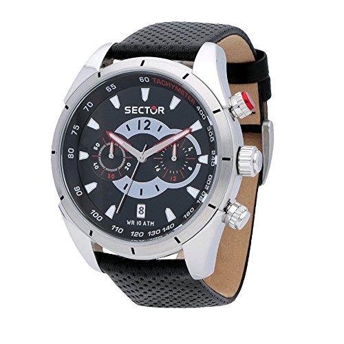 Sector Reloj Cronógrafo para Hombre de Cuarzo con Correa en Cuero R3271794002