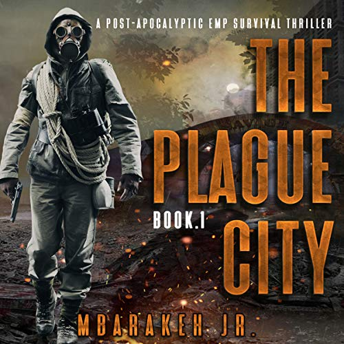 The Plague City audiobook cover art