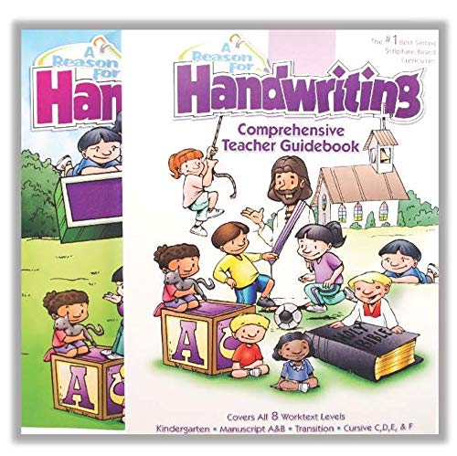 A Reason For Cursive Transition Handwriting Workbook & Teacher Guidebook Level T, Grade 2 & 3 - Kids Writing Practice Books for Kindergartners - Penmanship Workbooks for Homeschooling