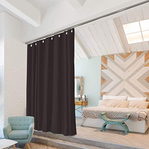 Room Dividers Now Ceiling Track Room Divider Kit - Small A, 8ft Tall x 3ft - 4ft 6in Wide (Dark Chocolate)
