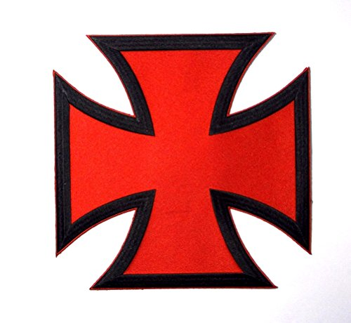 Choppers Cross Red Black Large Back Vest Embroidered Patch Iron Sew PWPM5067