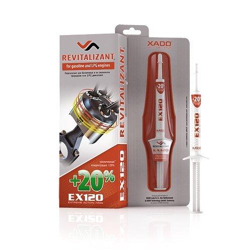XADO EX120 aditivo para el motor, protección contra el desgaste del motor gasolina y gas, con aditivo Revitalizant