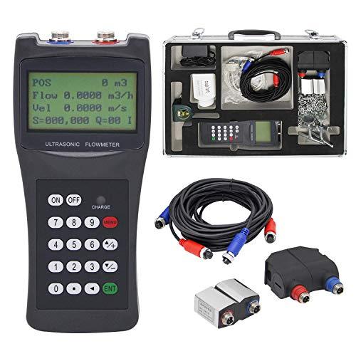 CGOLDENWALL 100H-M2+S1 Handheld Ultrasonic Flow Meter Flowmeter Clamp on Sensor (DN15-700mm)