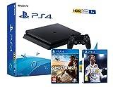 Sony PS4 Slim 1Tb Negra Playstation 4 (2 Juegos Incl.) FIFA 18 + Tom Clancy'S: Ghost Recon Wildlands