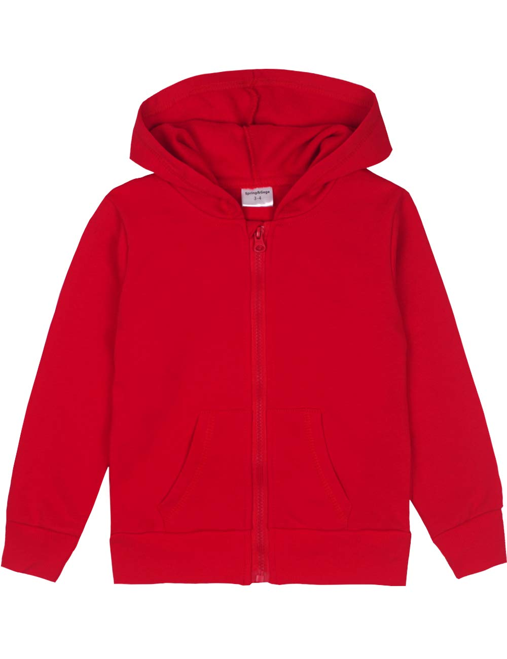 3-12 Years Spring/&Gege Youth Solid Classic Hoodies Soft Hooded Sweatshirts for Children