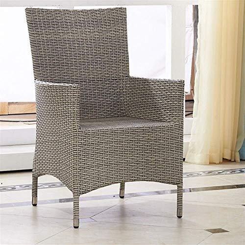 QQXX tuinmeubelen mandstoel, rotan cafe, clubhuis, tuinstoel, rotan eettafel en stoelen, woonmeubelen (grootte: 61x61x94cm) 1 1