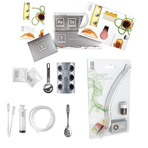 Molecule-R Cuisine Aroma Combo Kit de gastronomie moléculaire et Aromafork avec fumée Arôme volatiles améliorant – Special Lot de 2