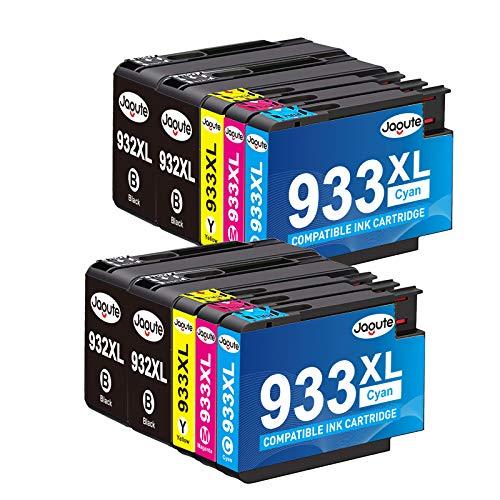 Jagute Cartuchos de tinta compatibles con HP 932 933 932xl 933xl para HP Officejet 6100 6600 6700 7110 7510 7610 7612 (10 unidades)