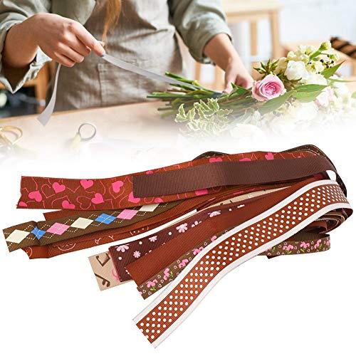 DAUERHAFT Weihnachtsdekoration Band, Party DIY Dekoration Band, Geschenkverpackung Band, Geeignet für Geschenkverpackung,(Khaki Series 6)