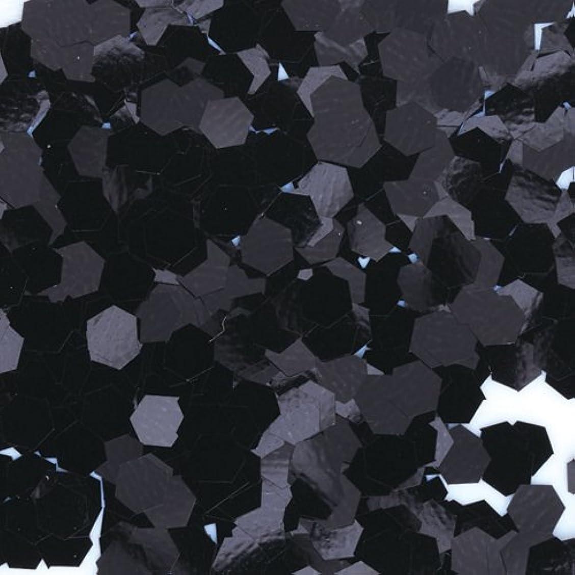メイト復讐人種ピカエース ネイル用パウダー 六角カラー 1mm #452 ブラック 0.5g