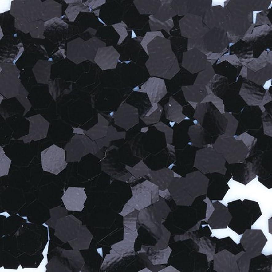 土器執着魅惑するピカエース ネイル用パウダー 六角カラー 1mm #452 ブラック 0.5g