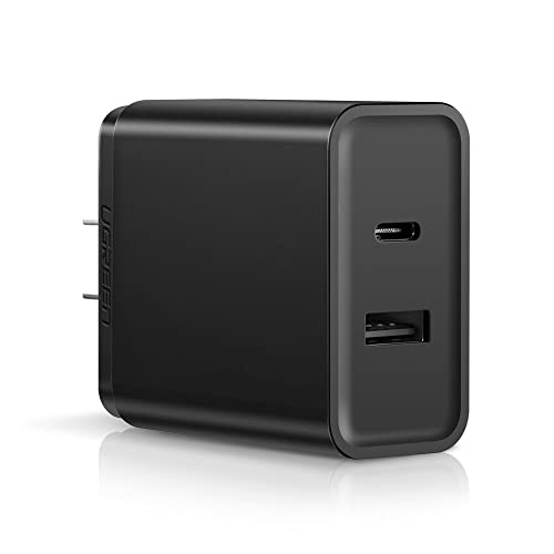UGREEN USB Charger 30W USB C Charger with 5V/2.4A USB Port Power Delivery Quick Charge 3.0 Fast Wall Charger Compatible for Nintendo Switch, iPhone X, 8, iPad Pro, Samsung Galaxy Note 9, S9 Plus, S8, Note 8, Google Pixel 3 XL, 2, 2 XL, Xiaomi Mi A1, A2, Nexus 6P, 5X, LG G7, G6, V30, V20 and More