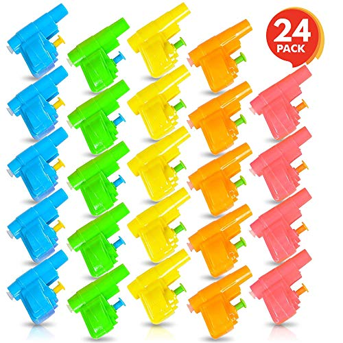 ArtCreativity Colorful Mini Water Guns - Pack of 24 - Fun Assorted Neon Colors - Great Pool and Beach Party Favor - Amazing Gift Idea for Boys and Girls Ages 3+