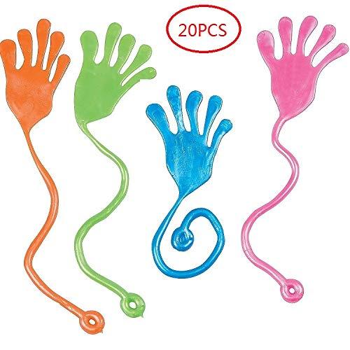 Tuko 20PCS Sticky Hands, Sticky Fingers,Kids Party Favor Sets? Fun Toys, Party Favors, Wacky Fun Stretchy Glitter Sticky Hands, Party Favors, Birthday Parties, Toys for Sensory Kids,20PCS