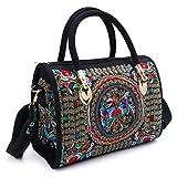 Dabixx donne ricamate a mano borsa etnica Boho shopping bag tote zipper bag 01#