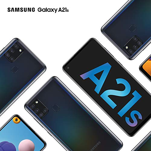 Samsung Galaxy A21s Android Smartphone, SIM Free Mobile Phone, Black (UK Version)