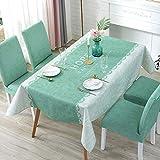 LIUJIU Mantel de poliéster de decoración de mesa de banquete, 110x110cm