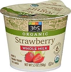 365 Everyday Value, Organic Whole Milk Yogurt, Strawberry, 5.3 oz