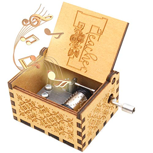 ukebobo Wooden Music Box - You are My Sunshine Music Box, Present for Teacher Gift for Coworkers Teacher Appreciation Gift - 1 Set