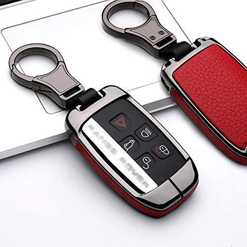 ontto Coque de clé de Voiture en Alliage de Zinc pour Land Rover Range Rover Sport Evoque 4 Discovery Sport 2 Jaguar avec Porte-clés Noir Rouge