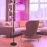 Lámpara de pie RGB de AnTing, regulable sin niveles, lámpara de pie con base de tela y hierro, lámpara de pie moderna clásica con bombilla LED E27 brillante para dormitorio, oficina