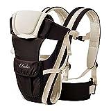 ELENKER Porte-bébé Multifonctionnel avec 4 Façon de Porter Tissu Respirant Réglable Confortable Sangle(3-18KG,0-30Mois)Beige