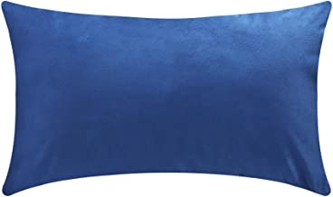 Throw Pillow Covers-Cozy Velvet Rectangle Decorative Pillowcases for Couch and Bed-12'x20'-Pack of 1-Blue