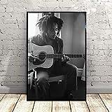 qianyuhe Wandkunst Bilder Bob Marley Musik Sänger Star