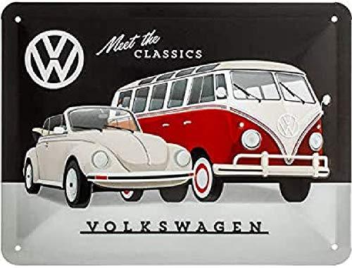 Nostalgic-Art Cartel de chapa retro VW – Meet The Classics – Idea...