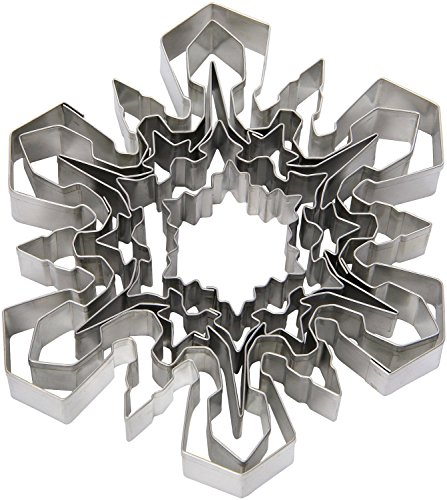 Ateco 4843 Plain Edge Snowflake Cutter Set