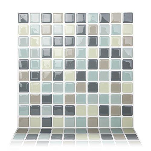 Tic Tac Tiles Premium mold peel anti e mattonelle bastone della parete backsplash in mosaico