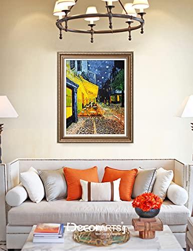 Cafe Terrace at Night, Vincent Van Gogh Art Reproduction.