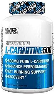 Evlution Nutrition L-Carnitine500 500 mg di Pura L Carnitina in ogni Dose (120 Dosi in Capsule)