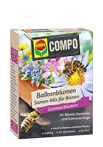 Compo Balkonblumen Samen-Mix für Bienen, Blumenmischung, Sommerblumen, 100 g, 15 m²