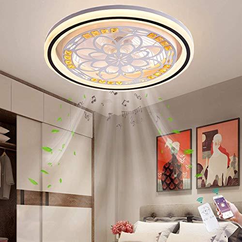 48W Ventiladores De Techo con Luz Regulable LED con Mando A Distancia Luz Regulable Luz Fría/Neutra/Cálida Luces Regulable Lámpara LED De Techo, 3 Velocidades De Viento, App-Regulable, Silencioso