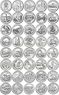 2010 P - 2019 National Park Quarters Includes Display Holder Quarters Seller Uncirculated